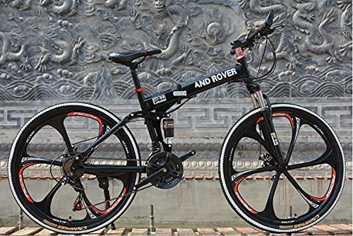Folding Mountain Bike for Men, 26 inch 21 Speed High Carbon...