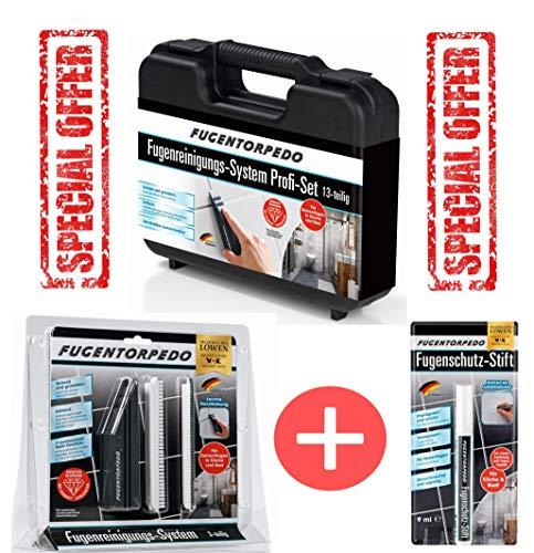 Fugentorpedo Geschenkset Profi Set im Koffer plus Basis Set und Stift gratis