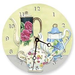 Lexington Studios Chic Teapots Round Clock