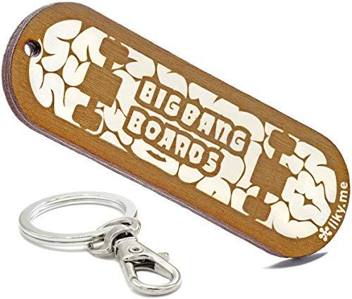 LIKY® Skateboard – Original Schlüsselanhänger aus Holz Gravur Geschenk Damen Herren Geburtstag Hobby Schmuck Anhänger Tasche Rucksack