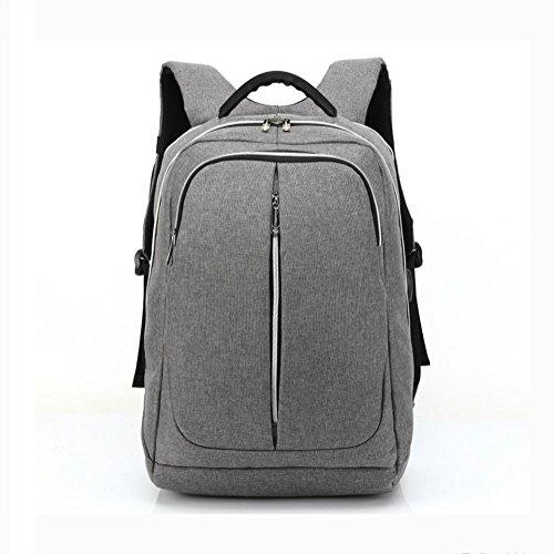 ZXJ Nylon Sac à Dos Ordinateur Portable Forfait 16 Pouces Hommes Extérieur Voyage Épaules Sacs à Dos, Grey