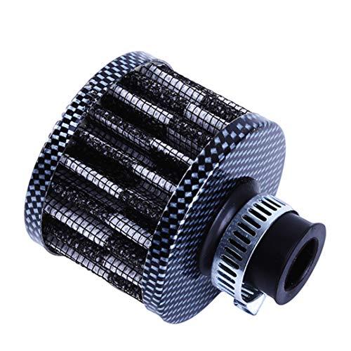 JOOFFF Luftfilter Auto Motorrad Geändert Luftfilter Pilzkopf Mini Luftfilter Öl Kurbelgehäuse Ventil Luftfilter, Carbon Farbe
