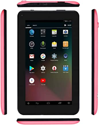 $47 Get Haehne 7 Inches Tablet PC - Google Android 6.0 Quad Core, 1024 x 600 Screen, 2.0MP 0.3MP Dual Camera, 1G RAM 16GB ROM, 2800mAh, WiFi, Bluetooth (Pink)