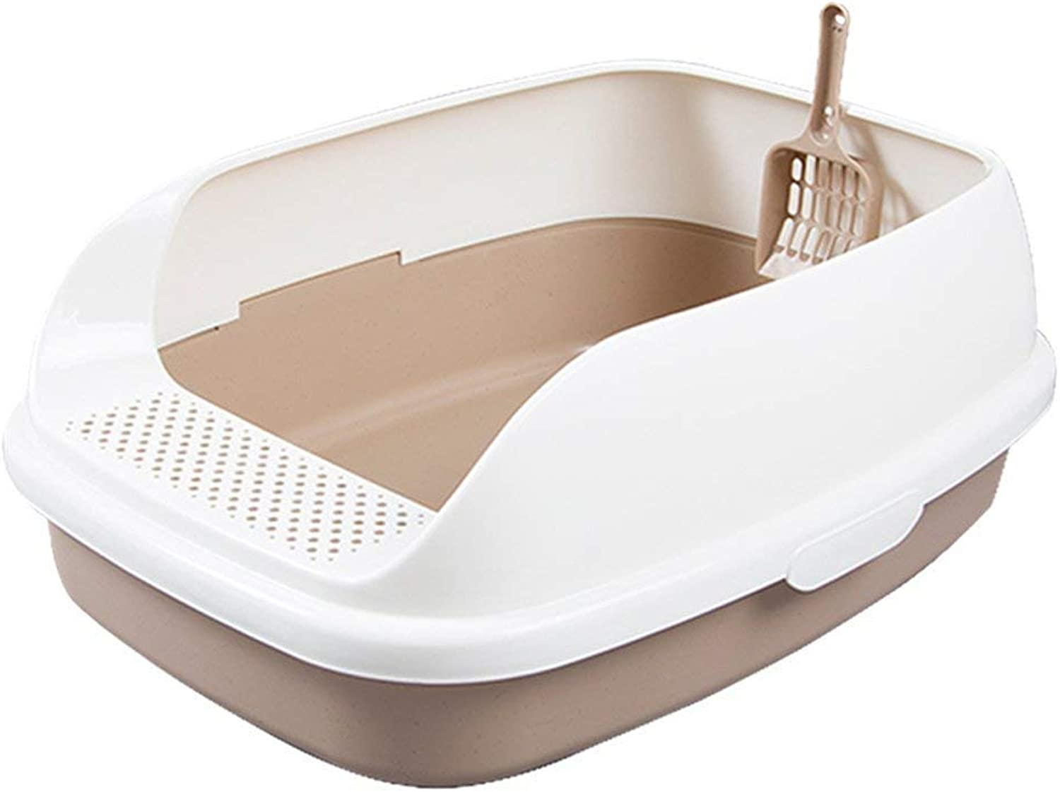 Separable and Easy to Clean semi-Enclosed Open Pedal cat Litter cat Toilet cat Supplies can be Separated and Easy to Clean (color   Brown)