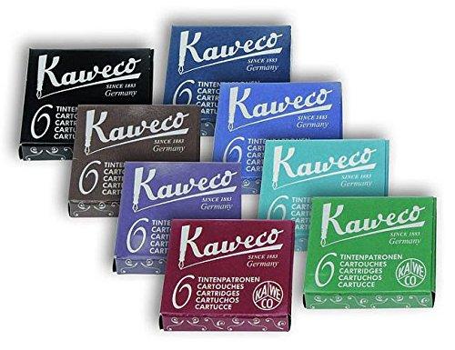 Kaweco Tintenpatronen kurz, 8 versch. Farben, 8 x 6 Patronen