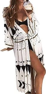 Women Swimsuit Cover Up Long Cardigan Beach Wear Sexy Loose Swimwear Bikini Lace Floral Long Maxi Beach Dress