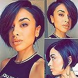 Rosehair Lace-Front-Perücke, kurz, Echthaar, für schwarze Frauen, 130% Dichte, glattes brasilianisches unbehandeltes Haar mit Baby-Haar, klebefrei, vorgerupftes Haaransatz gebleichte Knoten