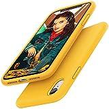 Gorain Hülle für iPhone XR, Flüssig Silikon Kratzfeste Handyhülle rutschfeste Schutzhülle Cover Stoßfestes Bumper Hülle Silikon Hülle für iPhone XR 6.1 Zoll - Gelb