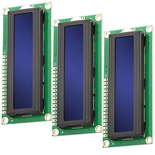AZDelivery 3 x HD44780 1602 Modulo Pantalla LCD Display Azul 2x16 caracteres blancos compatible con Arduino con E-Book incluido!