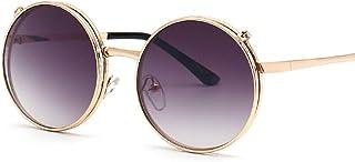 KUANDAR GLA - Gafas de Sol para niños, UV400 Gafas, Doble Capa, Gafas De Sol De Aviador, Montura Cómoda con Protección UV, para Niños con Montura de Metal-Acero Fino