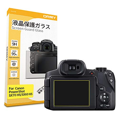ORMY 0.3mm Protector de Pantalla para cámara para Canon PowerShot SX70 HS / SX60 HS