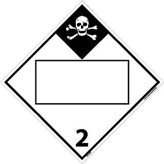 DL151BP National Marker Dot Placard Inhalation Hazard Sign 2, Blank, 10.75 Inches x 10.75 Inches, Ps Vinyl