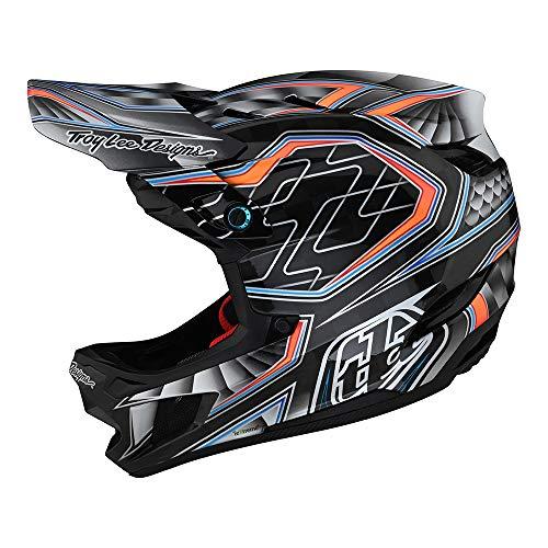 Troy Lee Designs Adulto | Downhill | Bicicleta de Montaña | BMX | Casco integral D4 Carbon Low Rider W/MIPS (Gris, LG)