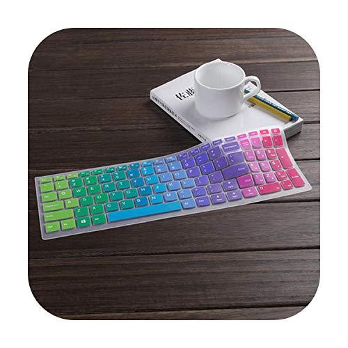 TOIT - Funda para teclado Lenovo V310-15 310-15 Ideapad 110-15 510-15 Isk 110310510 15-Rainbow-