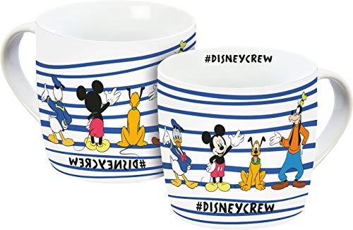 Disney Mickey Mouse 12075 Disneycrew Tasse, Porzellantasse, Kaffeetasse, Porzellan, 300 milliliters, Mehrfarbig