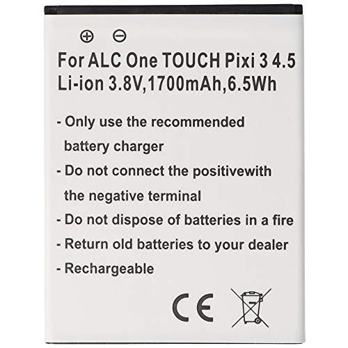 Batería para Alcatel One Touch Pixi 3 4.5, Ion de Litio, 3,8 V, 1700 mAh, 6,5 WH