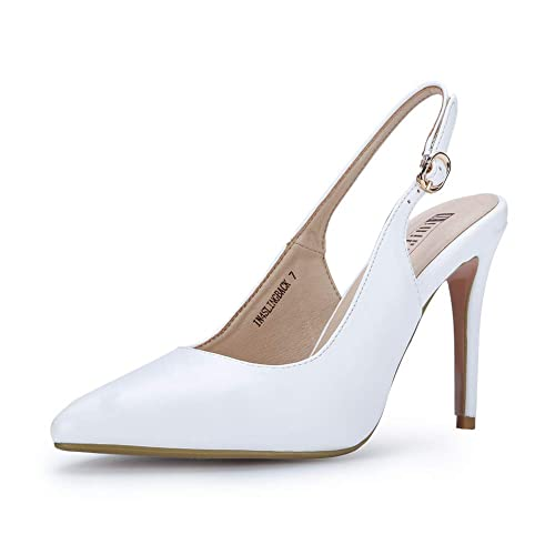 6837ee3e956 IDIFU Women s IN4 Slingback Closed Pointed Toe Ankle Strap Stiletto High  Heel Buckle Dress Sandals Ladies