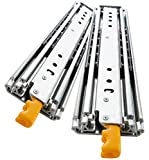 YENUO Heavy Duty Drawer Slides 22 Inch with Lock, Full Extension Ball Bearing, 500 lb Load Capacity, 1 Pair (56 inch (1400mm))