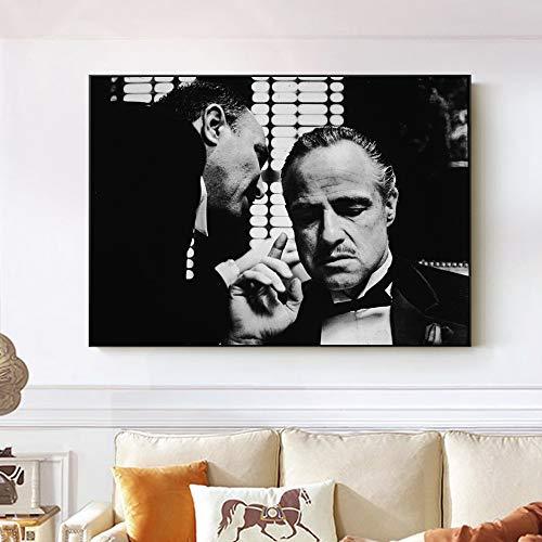 Impresiones Sobre Lienzo. Pinturas De Arte De La Pared Cuadro Mafia Moderno Impresiones En Lienzo Para Sala De Estar Dormitorio DecoracióN Para El Hogar Obra. 60X80Cm