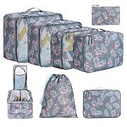 Amazon Brand – Eono 8 teilig Packing Cubes, Kleidertaschen Verpackungswürfel, Kleidertaschen Set, Kofferorganizer Reise…