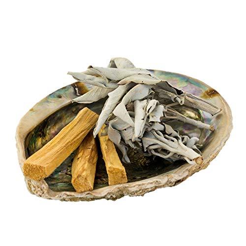 SMUDGE KIT Jiri & Friends Weißer Salbei und Palo Santo und Abalone Muschel Fair Trade Räucherset White Sage Räucherwerk