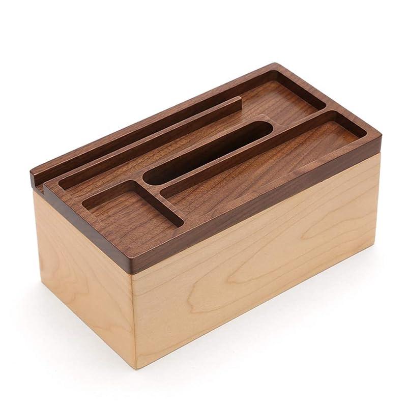 ジャンピングジャック取り付け素晴らしきティッシュボックス木製多機能トレイクリエイティブデスクトップ収納ボックスログナプキントレイ SHWSM