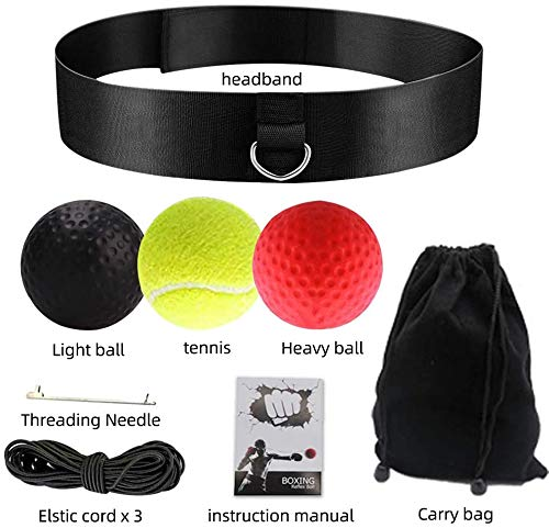 Fastpro Box-Trainingsball mit 3 Schwierigkeitsgraden, Boxball mit Kopfband, geeignet für Reaktion, Agilität, Punching, Speed Fight Skill Hand