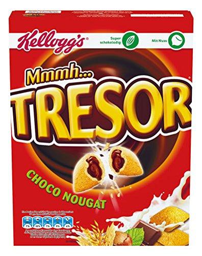 Kellogg's Tresor Choco Nougat, Getreidekissen mit Nougat-Füllung - 375gr - 4x