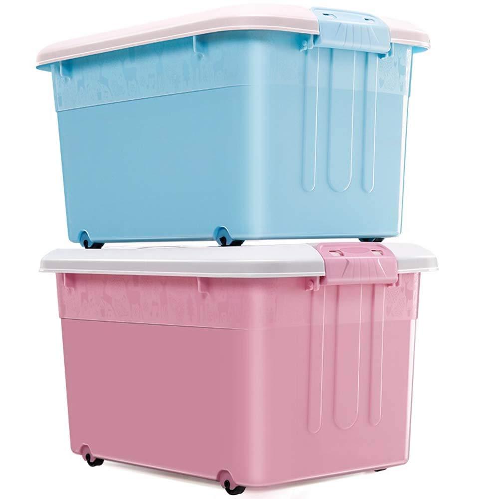 Caja de almacenamiento de plástico grande, a prueba de humedad del hogar, anti - insectos Caja de almacenamiento seca Adecuada para el dormitorio Dormitorio Balcón Cajas apilables de oficina para ni: Amazon.es: