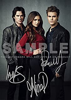 Iconic Images The Vampire Diaries TV Show Print - Cast Ian Somerhalder, Paul Wesley, Nina Dobrev