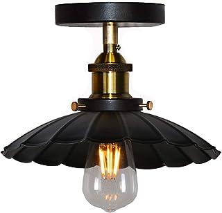 Huahan Haituo Sufit Światło Nowoczesne Vintage Industrial Metal Black Bronze Loft Bar Sufit Light Shade Retro Lampa wisząc...