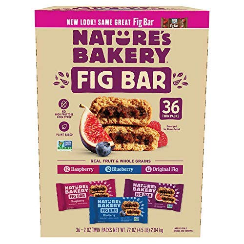 Nature's Bakery Fig Bar, Variety Pack, 2 oz, 36-count, 2 Pack