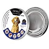 DEWEL Collar Antiparasitos Perro/Gato contra Pulgas,Garrapatas y Mosquitos, Impermeable para Mascota Pequeño Mediano GrandesTamaño Ajustable