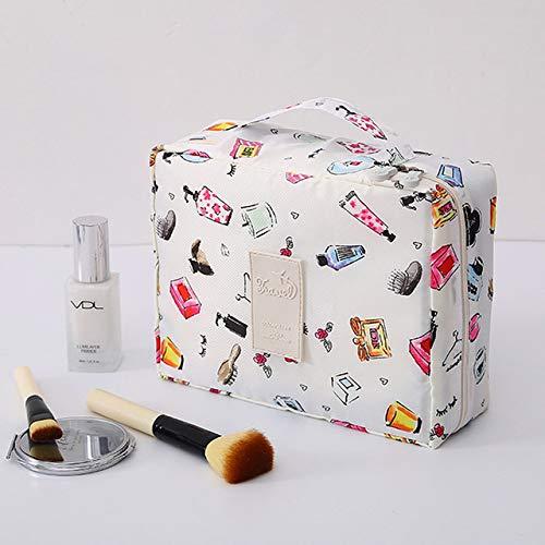Bolso de mujer Organizador de bolsos Bolsos de maquillaje lindo Marca de maquillaje Cepillo Artículos de aseo Bolso de mano Hombres Estuches de cosméticos Estuche de viaje Estética, perfume beige