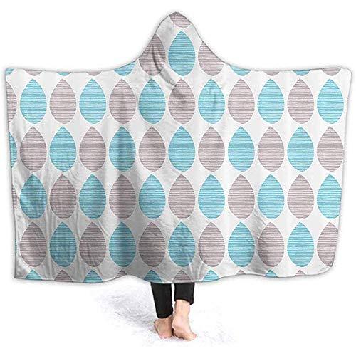 DJNGN 60X50 Inch Hooded Blanket Foliage Arrangement Wele Soft Warm Plush Fleece Lined Throw Blankets