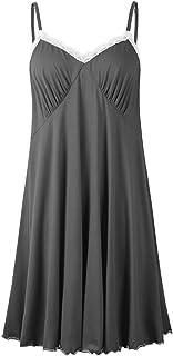 JollieLovin Women's Nightgown Plus Size Summer V Neck Sleepwear Strap Dresses Sexy Pajamas Lace Lingerie