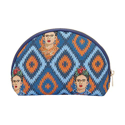 Signare Tapestry Cosmetic Bag Makeup Bag for Women with Mexican Folk Art Design (Frida Icon; COSM-FKICON)