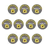 Morran 5/10pc De Botón con Texto En Inglés i Got My Flu Shot Health Pin Insignia De 25 Mm Personality Button Badge