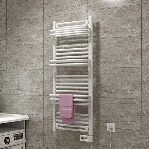 Inicio Equipos Calentador de toallas montado en toalla calefactable con estante superior en acero inoxidable Enchufe eléctrico de bajo consumo en el toallero calefactado Riel calefactor de toallas