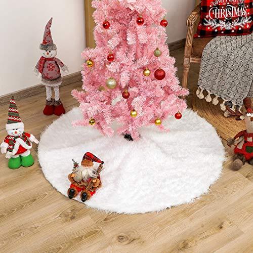 Zhongsheng Christmas Tree Skirt, 36 inch White Tree...