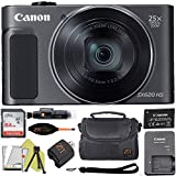 Canon PowerShot SX620 Digital Video Camera Content Creator Kit w/ 25x Optical Zoom - Wi-Fi & NFC Enabled + 64GB Memory Card + ZeeTech Bundle (Black)
