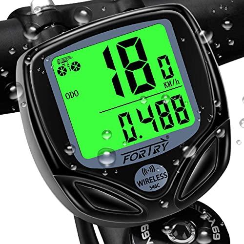 Ordenador de bicicleta inalámbrico con 16 funciones IP54, pantalla LCD impermeable – Universal Smart Bicycle Computer, con función de despertar automático y velocímetro de bicicleta de modo