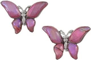 Mirabella BellaMira Snowdrop Flower Butterfly Abalone Shell Earrings Necklace Pendants - Bohemian Shabby Chic Hope Jewelry for Girls Women
