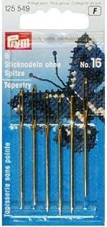 Prym Sticknadeln ohne Spitze, Metall, Silber/Gold, 10,9 x 4,9 x 0,02 cm