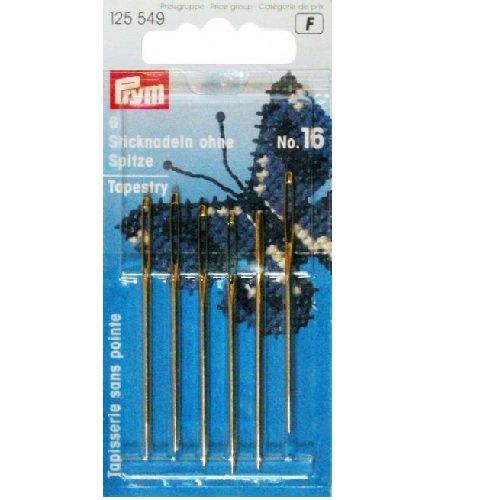 Prym Tapisserie avec Blunt Point Aiguilles, métal, Argenté/doré, 10.9 x 4.9 x 0.02 cm