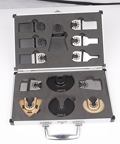 For Sale! Harpow 13pcs aluminium case set,power oscillating tool blades,multitool blades,power tool ...