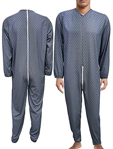 Survêtement sanitaire pour personnes âgées, homme, femme, été, 100 % coton frais, combinaison de santé, fabriqué en Italie, pyjamas sanitaires (S, 21 - Survêtement homme 02)