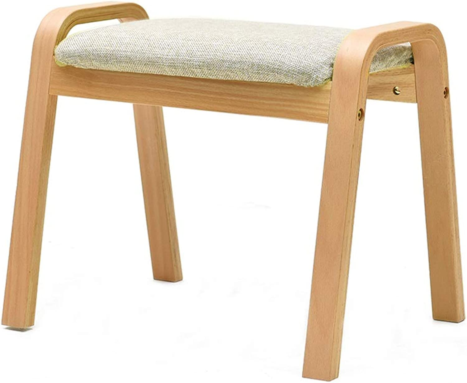 Adult Wooden Small Bench, Home Door Change shoes Bench, Sofa Footstool, Can Be Placed, Removable and Washable (color   B)