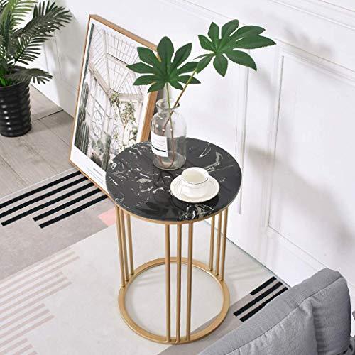 N/Z Living Equipment Home D Eacute; COR Möbel Moderner Kaffee-Tee-Beistelltisch Marmor-Beistelltische mit stabilem Metallfuß für Wohnzimmer Lounge (40CM) Wohnzimmer oder Lounge