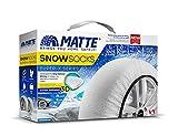 MATTE - Calcetines de nieve talla L medida 215/55 R16 aptos para carreteras heladas y nevadas.